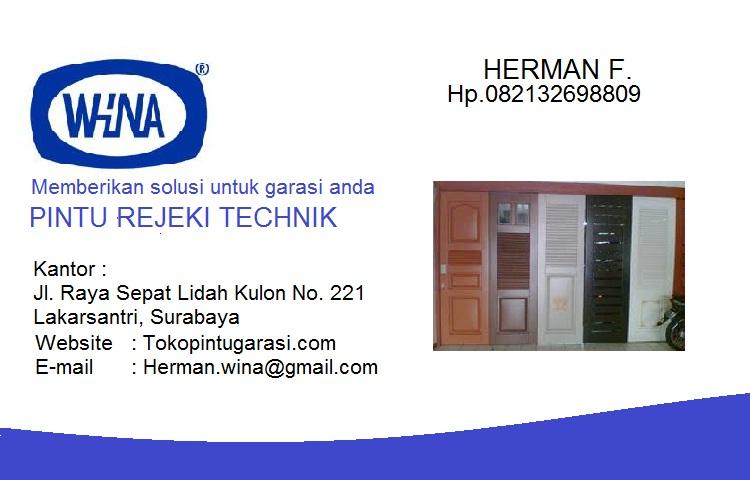 Menjual pintu garasi daerah surabaya