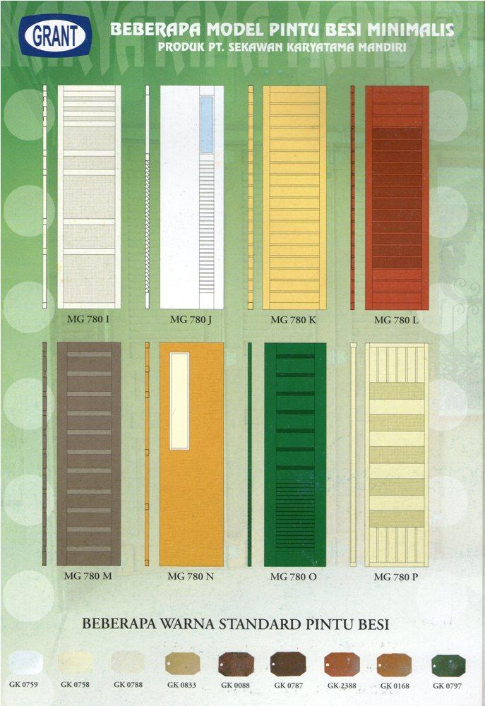 Model atau tipe pintu garasi GRANT